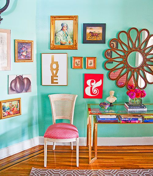 Colorful Wall Decor: 25+ Best Ideas About Turquoise Walls On Pinterest