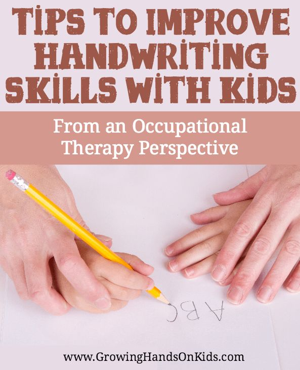 how to help with handwriting