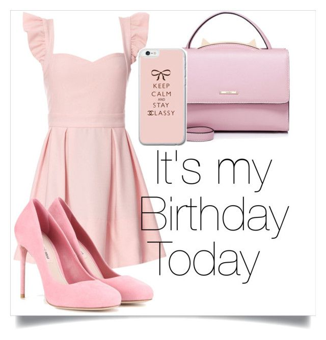"""""""Birthday August 14 2016"""" by veronika-andrianova ❤ liked on Polyvore featuring Miu Miu and WithChic"""