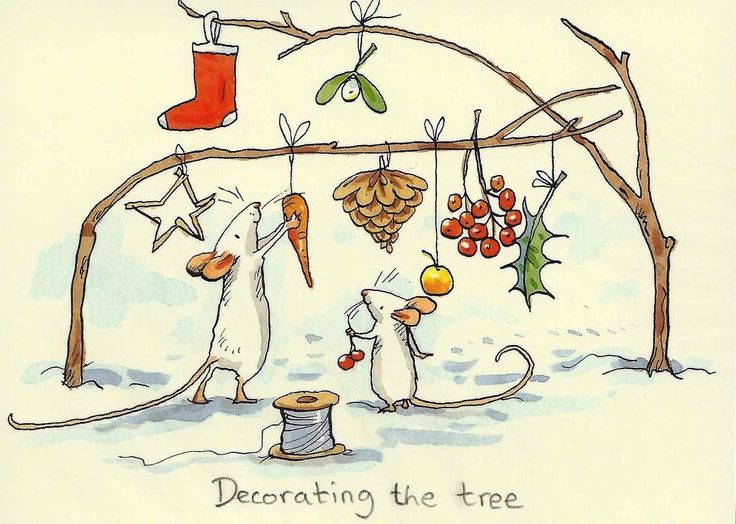 """Decorating the tree"" by Anita Jeram"