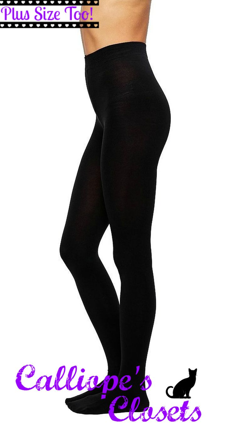 120 denier 3D opaque tights black