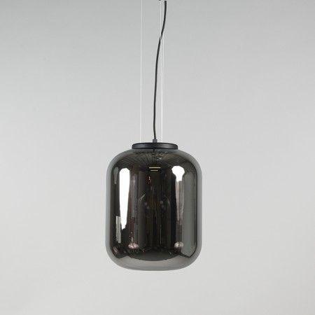 Hanglamp Bliss zwart met zwart smoke glas