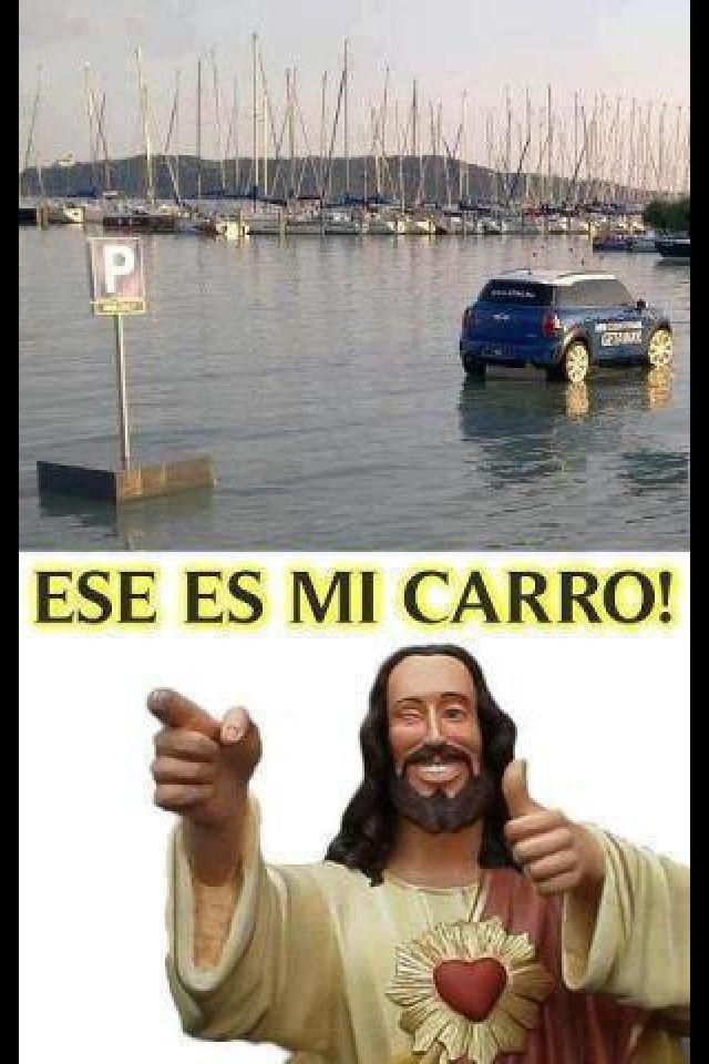 1. Jajaja. Explica el chiste de este meme en tus propias palabras. 2. Si Jesús Cristo tuviera un carro, ¿sería un SUV? Por qué sí/no?