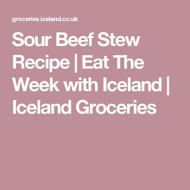 Sour Beef Stew Recipe | Eat The Week with Iceland | Iceland Groceries