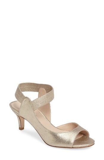 Free shipping and returns on Pelle Moda Berti Peep Toe Sandal (Women) at Nordstrom.com. Look polished and refined in this half-d'Orsay sandal with a demure peep toe and a setback heel. Lush suede and an elastic ankle strap make sure it will be as comfortable as it is stylish.