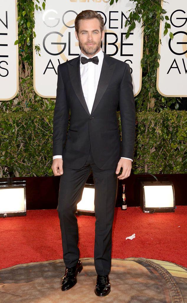 Chris Pine In Zegna at 2014 Golden Globes