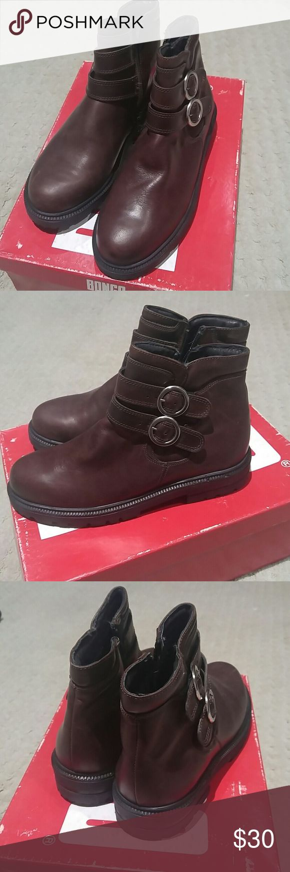 Josef Seibel Boot All Brown leather boot with 2 straps Josef Seibel Shoes Ankle Boots & Booties