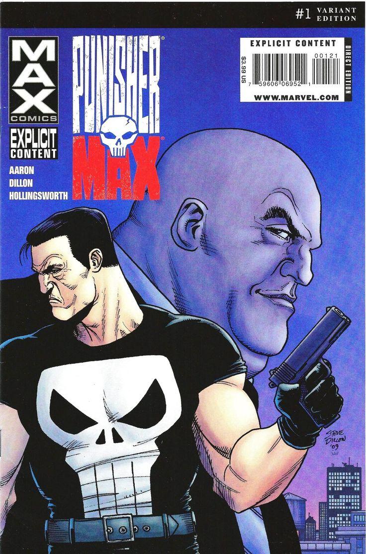 Punisher Max Issue #1 Variant Cover Edition Steve Dillon VF Marvel Comics 2010 - Punisher
