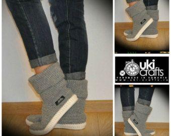 Zapatos del ganchillo Crochet Botas Botas de punto exterior