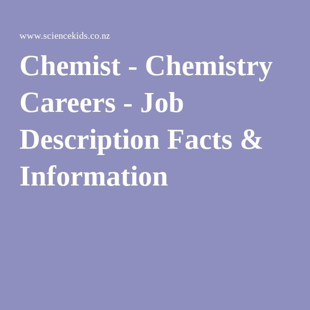 Chemist - Chemistry Careers - Job Description Facts & Information ...