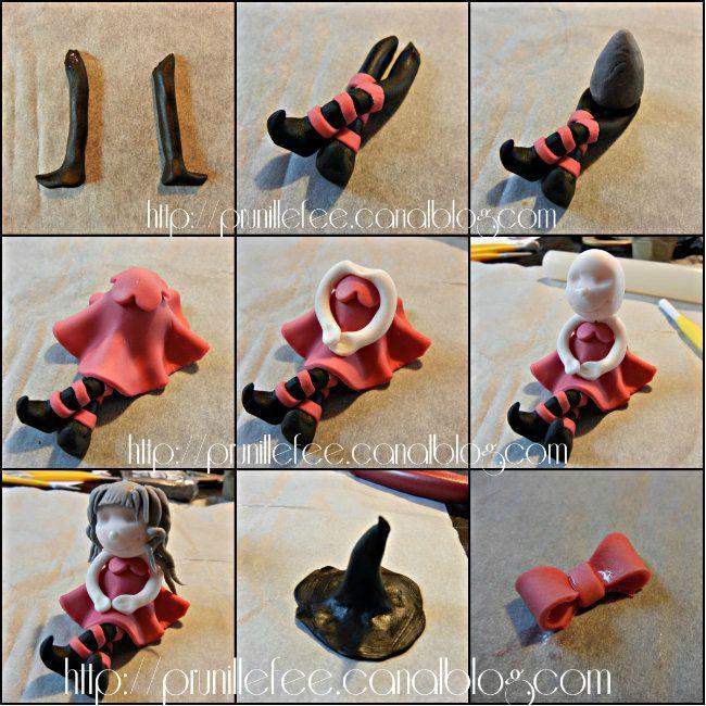 collage pâte à sucre halloween -  Fimo, Cernit et accessoires : http://www.creactivites.com/236-pate-polymere