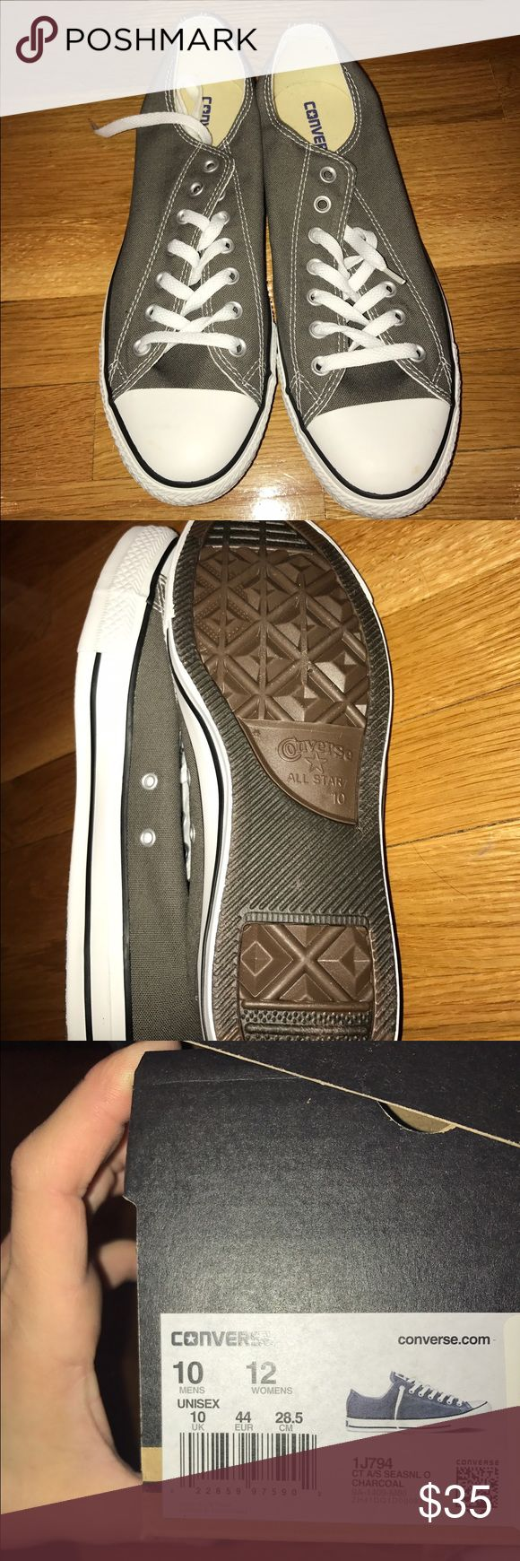 Men's Converse Brand new in box low top converse charcoal grey Converse Shoes Sneakers