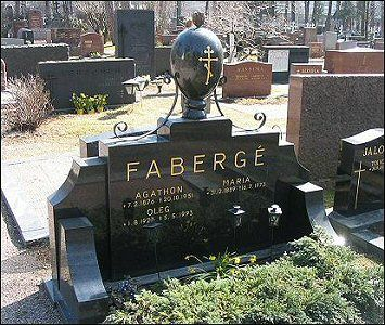 Grave of Agathon Fabergé, his wife and son in the Orthodox Cemetery,Helsinki