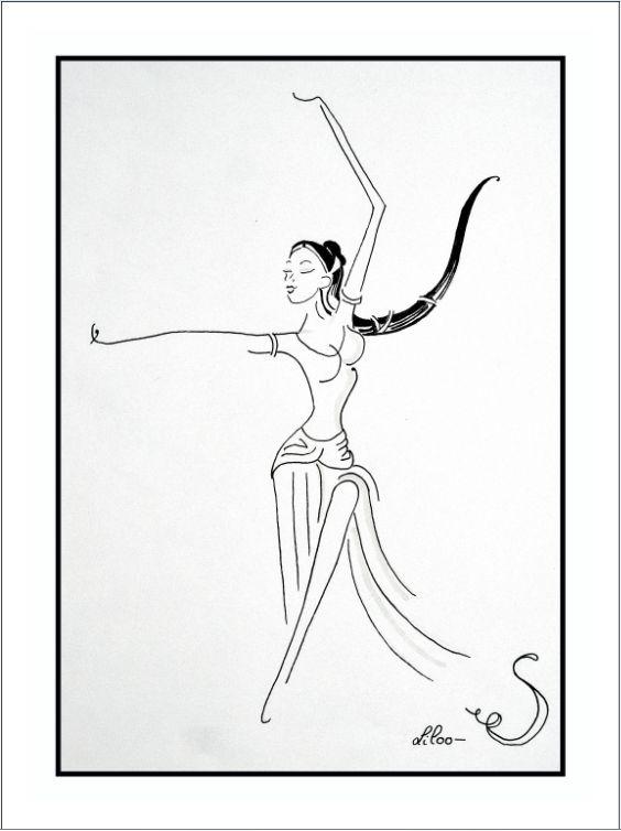 croquis danseuse indienne www facebook com s liloo