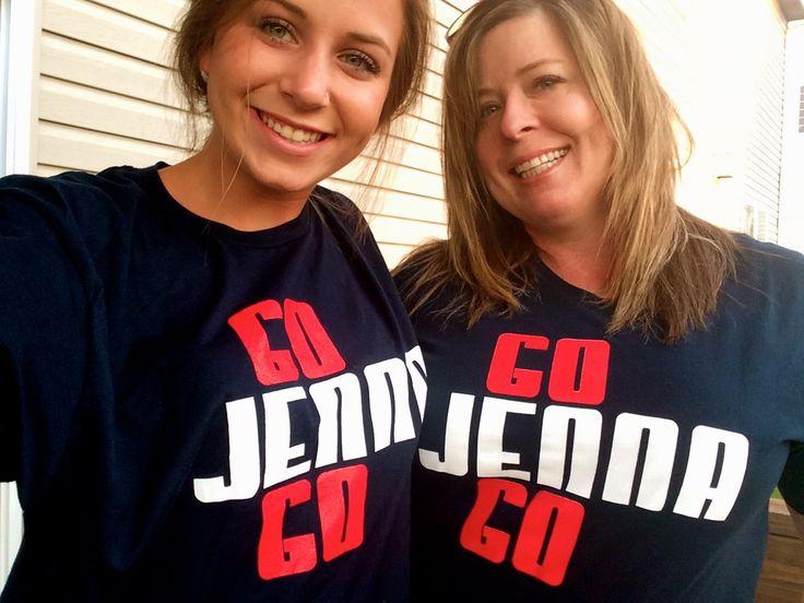 Supporting Jenna Prandini: All the way from Nebraska;-)
