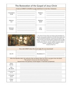 Guided Scripture Journal Pages: The Restoration of the Gospel of Jesus Christ