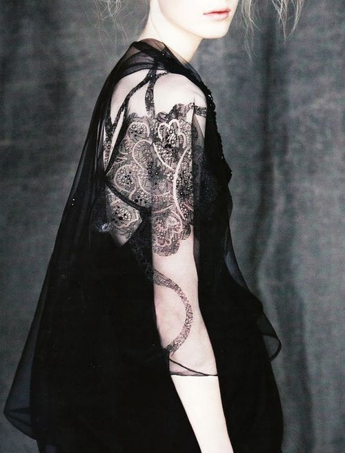 not a tattoo, but lace: i think it would make a stunning detailed piece tho if it was inked in the same place