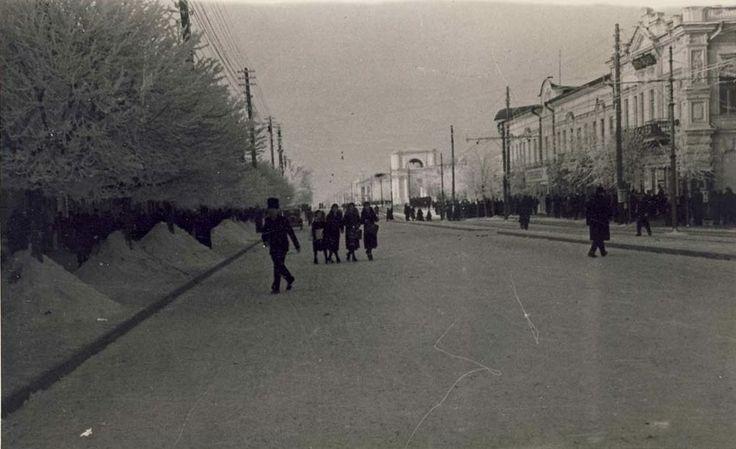 strada principală din Chișinăul interbelic