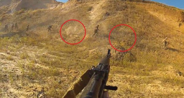ΤΡΟΜΑΚΤΙΚΟ: Η πιο επικίνδυνη εκπαίδευση στρατιωτών με αληθινά πυρά! (VIDEO)