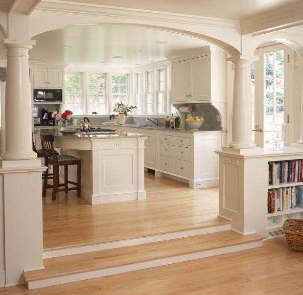 Transitional Modern Kitchen Open Plan: Open Floor Plans & Room