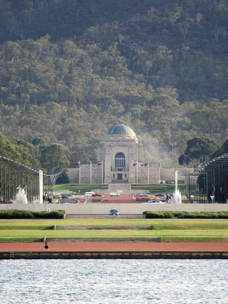 The Australian War Memorial from the lake, Canberra