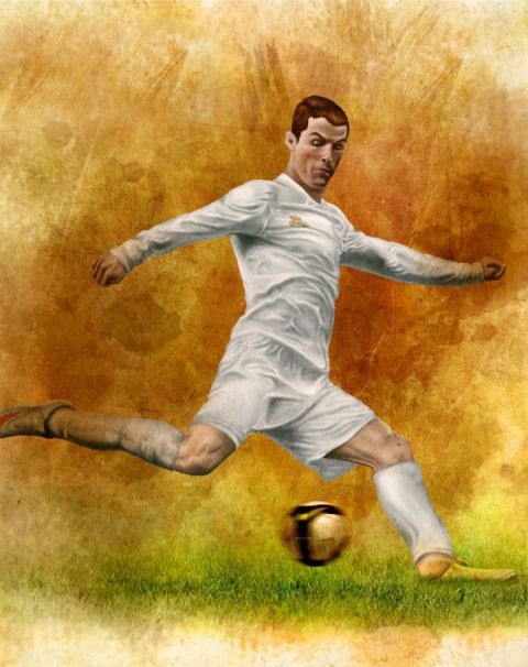 cristiano ronaldo infographic 15 Cool Illustrations of Famous Football Players