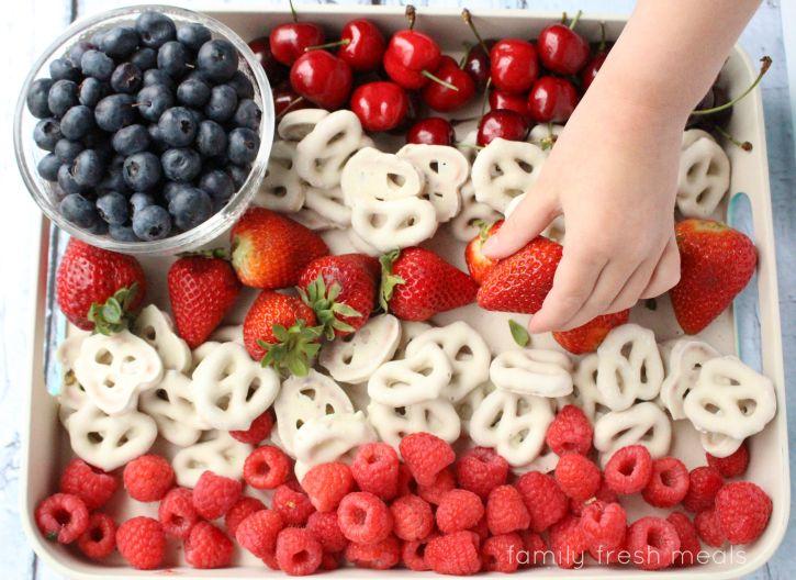 Easy Flag Fruit Dessert | Family Fresh Meals