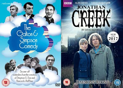 DVD Releases 6 February 2017 - The Galton and Simpson Comedy (Leslie Phillips, Bob Monkhouse, Patricia Hayes, Harry H. Corbett, David Jason, Jimmy Edwards and Richard O'Sullivan) & TV Drama Jonathan Creek Daemons' Roost (2017) Alan Davies