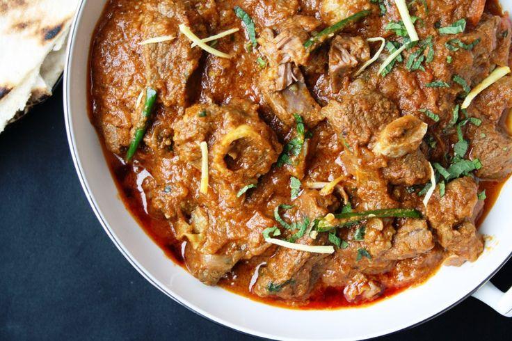 Mughlai Karahi Gosht - Slow cooked lamb curry with tomatoes, garlic and garam masala