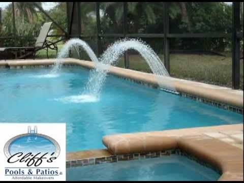 Swimming Pool Water Features - Extreme Rain Arc 1 of 3 - YouTube