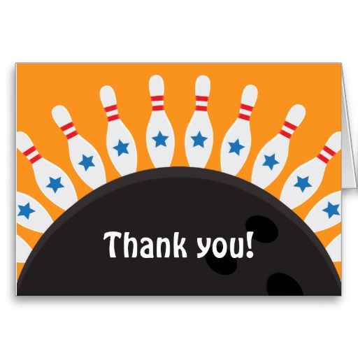 20 besten Bowling Thank You Cards Bilder auf Pinterest