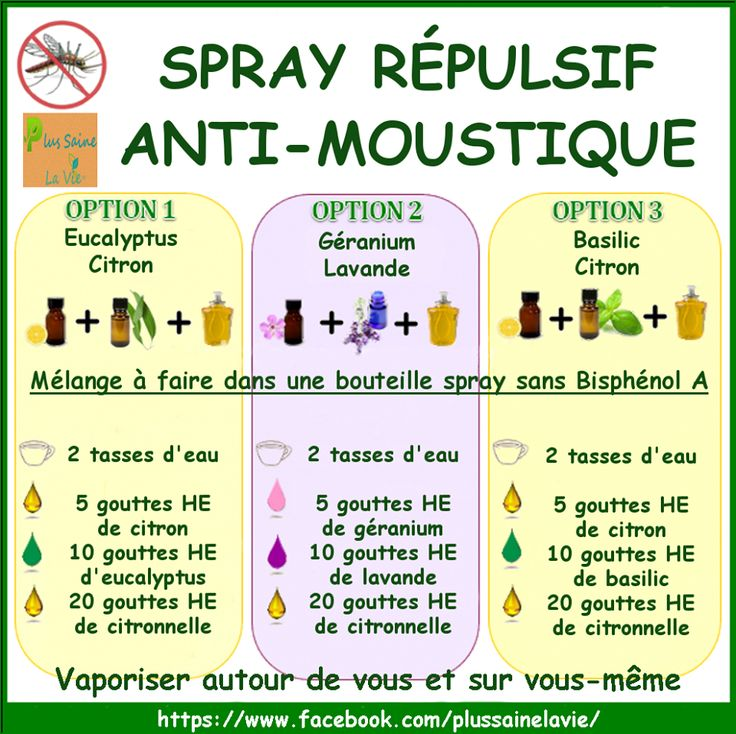 Spray répulsif naturel anti-moustique