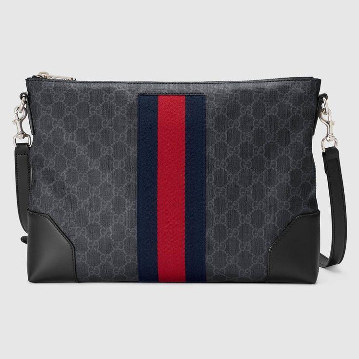 GUCCI GG Supreme messenger - GG Supreme. #gucci #bags #canvas #leather #lining #shoulder bags #linen #cotton #