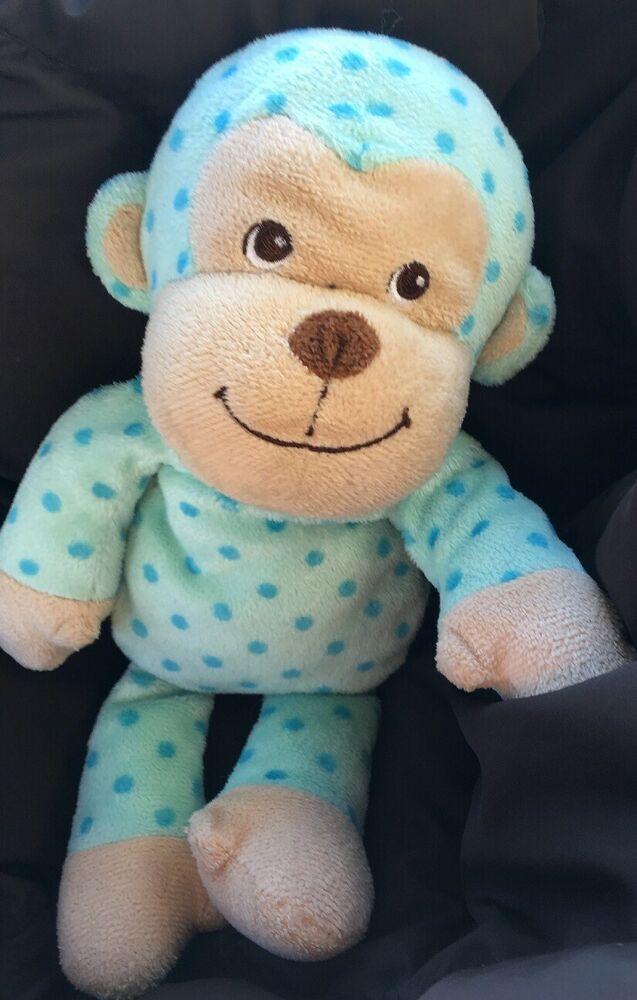 11 2016 Garanimals Green Blue Polka Dot Baby Monkey Stuffed Animal Plush Toy Ebay Baby Monkey Pet Monkey Stuffed Animal Plush Stuffed Animals