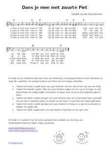 *▶ LIEDJE: Dans je mee met Zwarte Piet?  Hier kun je ook de muziek downloaden!