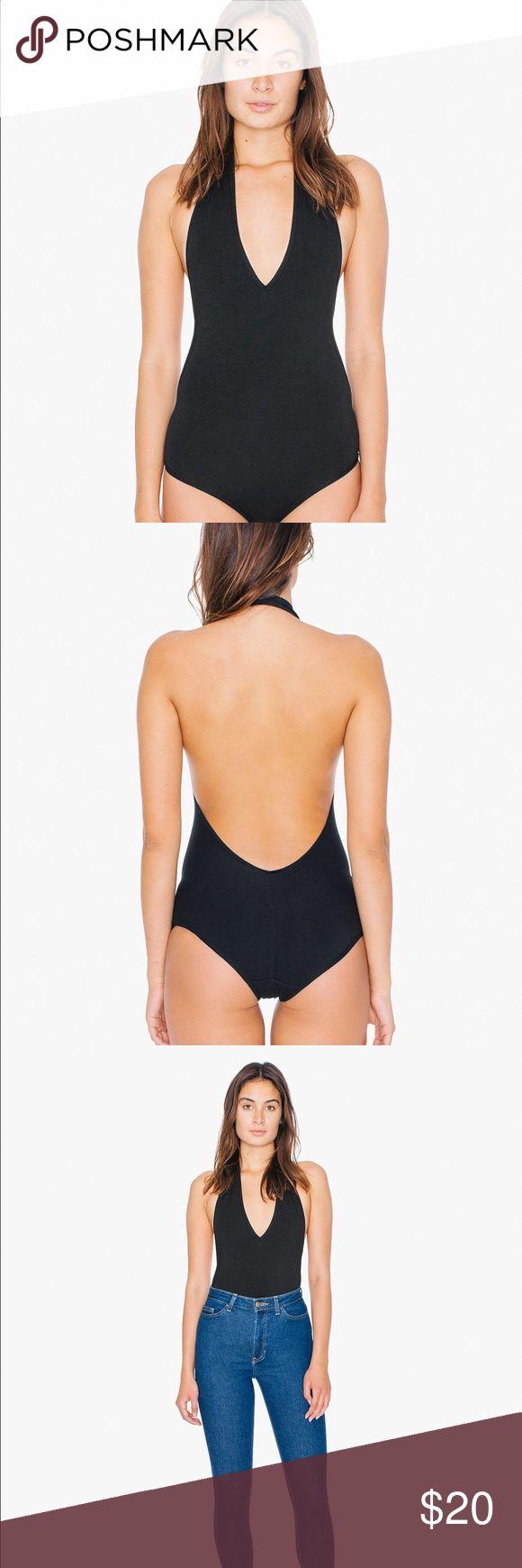 American Apparel V-neck halter bodysuit 👯 American Apparel V-neck halter bodysuit. Cotton/spandex. Only worn once. American Apparel Tops