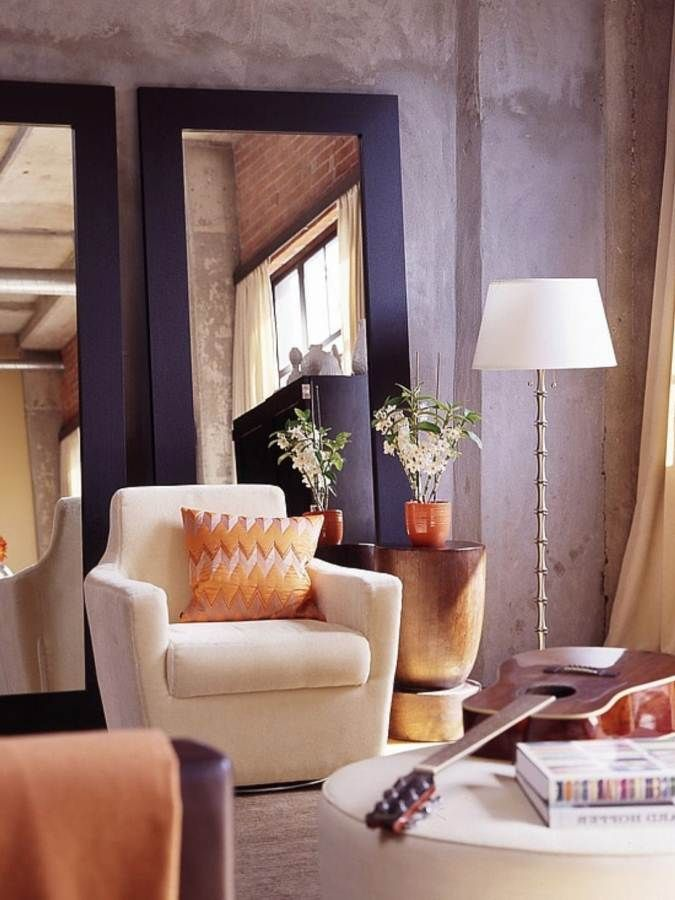 modern style of large wall mirrors for living room ...