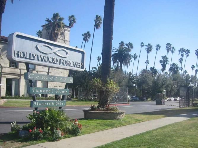ten Los Angeles cemeteries are intriguing sites for spooky Halloween tours...Hollywood Forever Cemetery
