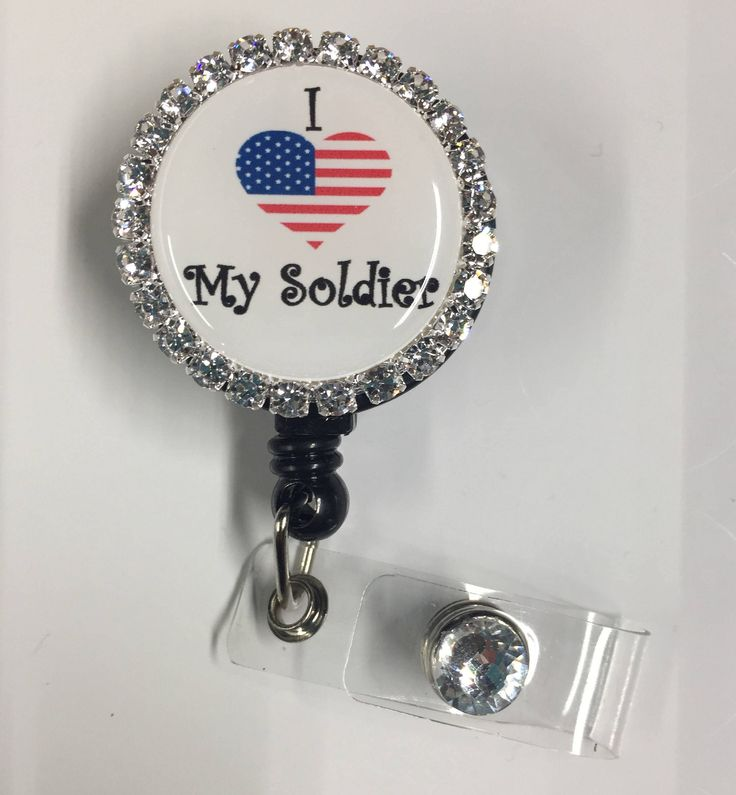 I love my soldier badge reel/ army wife badge reel/ army girlfriend ID holder/ Army badge reel/ Army gifts by KeystoneBlingNThingz on Etsy https://www.etsy.com/listing/582443795/i-love-my-soldier-badge-reel-army-wife