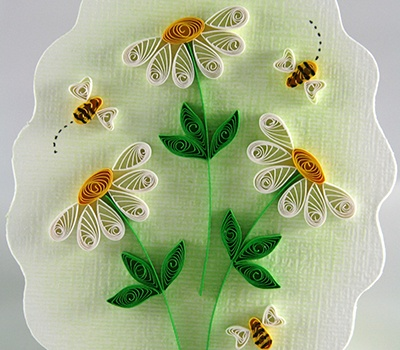 JJ Quilling Design - Quilled Bees & Daisies - by: Diane Boden Crane Beautiful!