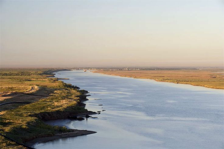 Brazos River, with it's headwaters in New Mexico, on it's final trek into the Gulf of Mexico