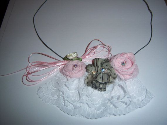 handmade jewelery from fabric flowers by hara75 on Etsy, $15.00