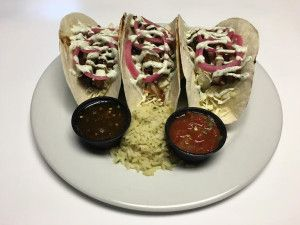 Appalachian Brewing Co. ASIAN PORK BELLY TACOS Flour tortillas stuffed with Korean BBQ braised pork bell topped with cabbage, pickled red onion and cilantro lime sour cream. Served with your choice of salsa or honey habanero sause and cilantro lime rice.  Suggested beer pairing: Aero-Head Bock #PorkBelly #PorkTacos