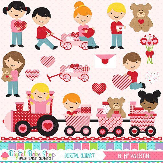 valentine's day valentines clipart clip art  Be by DigitalBakeShop, $5.00