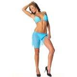 BOMB GIRL Langer Paréo (Strandwickeltuch) Minzblau - One Size - MRPAQU