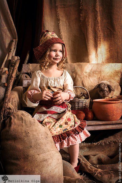 Купить ЗОЛУШКА платье костюм - коричневый, золушка, платье золушки, костюм для девочки, карнавальный костюм