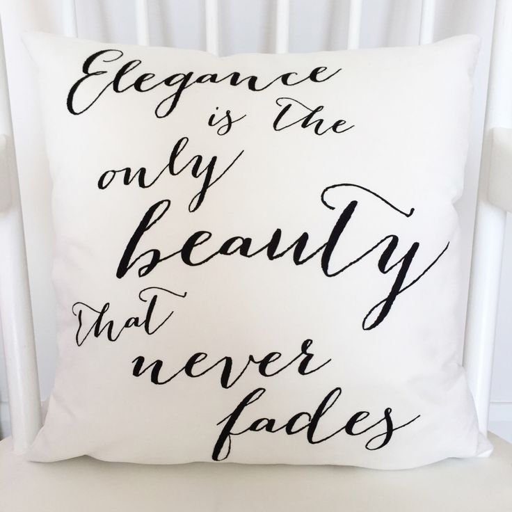 Audrey Hepburn Elegance Quote Cushion, Black and White Typography Cushion by SweetlovePress on Etsy https://www.etsy.com/listing/229733068/audrey-hepburn-elegance-quote-cushion