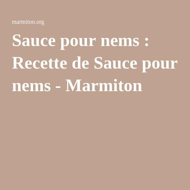 Sauce pour nems