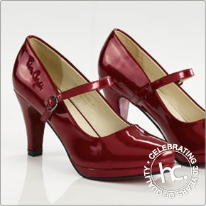 Take a dance with the Lizanne court shoes. Available in sizes 3, 5, 6, 7 and 8 in navy, 4-8 in red and white, 5-8 in black