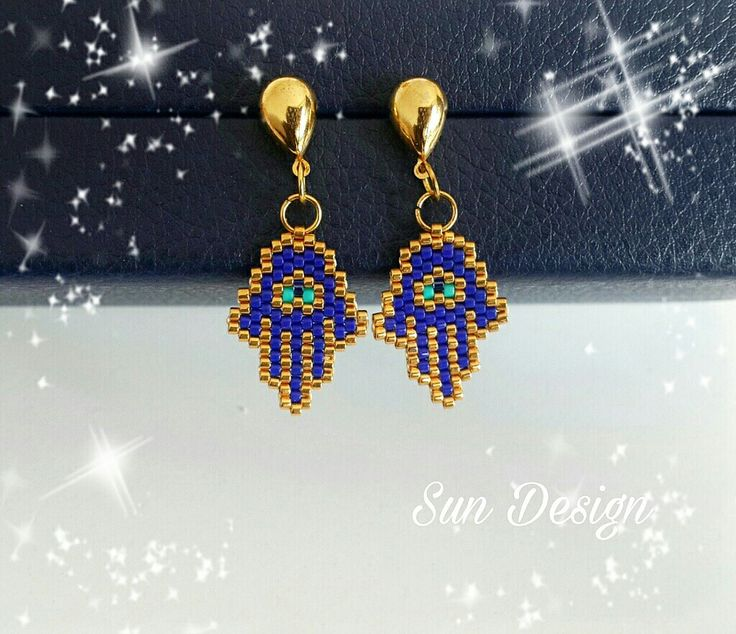 Fatma Ana Küpe #hamsa #küpe #fatmaananıneli #fashion #design #takı #peyote #pattern #stitch #brick #love #mini #tasarım